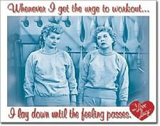 Work Out I love Lucy & Ethel TIN SIGN funny metal poster vintage home decor 1822