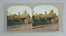 Stereoview - Ann Hathaway's Cottage, Stratford on Avon, England