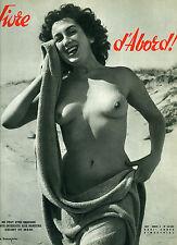 NU NUDE VIVRE D'ABORD N°54/385 FKK NATURIST MAGAZINEN NATURISME NUDISME 1957