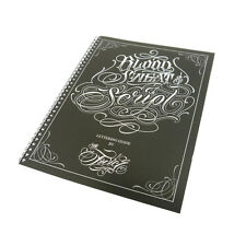 Blood Sweat & Script 65 Pages Tattoo Flash Design Art Book Sketch By Sir Twice