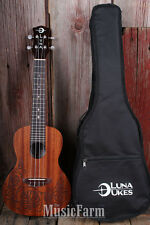 Luna UKE MO EL Uke Lizard Mo'o Concert Acoustic Electric Ukulele with Gig Bag