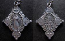 medalla religiosa antigua CRUZ PROTECTORA SAN BENITO FUNDADOR medal religious