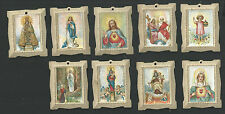 9 estampas antiguas de Jesus y la Virgen santino holy card image pieuse