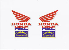 HONDA HRC CAMEL SUPERCROSS 1980 Stickers / Decals die cut lot of 2