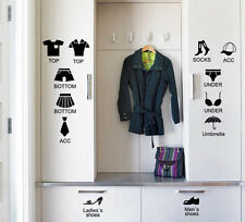 PVC DIY Wardrobe Wall Sticker Clothes Shoes cabinet Decor Clothing Store Decals
