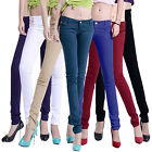 Women Casual Skinny Jeggings Pencil Pants Stretchy Jeans Trousers Novelty