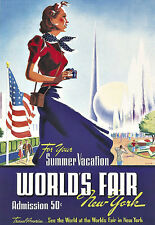 Art Ad New York Worlds Fair  1939   Deco   Poster Print