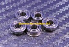 [QTY 5] SMF74zz MF74zz (4x7x2.5 mm) 440c Stainless Steel FLANGED Ball Bearing