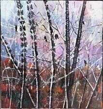 """Russischer Expressionist Öl Leinwand """"Winter"""" 110x110 cm pastos"""