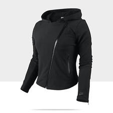 Nike Women's Black Woven Stretch Hooded Motorcycle Jacket  #484143-010 Size Med