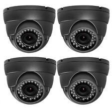 1300TVL Sony CMOS CCD Day Night 36IR LEDs 2.8-12mm Lens Security Camera DVR 4pcs