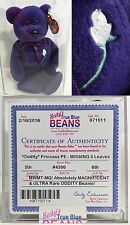 ULTRA RARE ODDITY!!! ~ PRINCESS (Diana) Bear AUTHENTICATED Ty Beanie Baby!! 1997