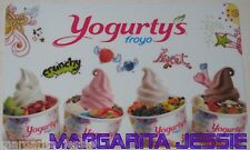 YOGURTY'S FROYO CANADA COLLECTIBLE GIFT CARD NO VALUE NEW FROZEN YOGURT/FRUIT
