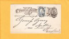 1885 Uprated Liberty NY Philately Isenstein Hermes Newspaper Ad to England Z83