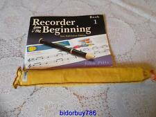 Aulos 205a-e recorder ,  recorder from the beginning book 1  john pitts.  (B22)