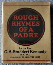 1922 ROUGH RHYMES OF A PADRE Geoffrey Studdert Kennedy ANGLICAN Priest RELIGIOUS