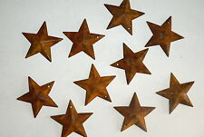 "1.5"" Rusty Primitive Tin/Metal Dimensional Barn Stars 10 pack   1 1/2""  NEW"