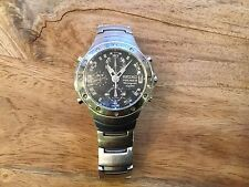 MENS SEIKO PREMIER CHRONOGRAPH 100M SPORTS WATCH -  STAINLESS STEEL