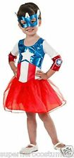 Captain America Dream Girl Classic Child Costume SIZE 2T - 4T NWT 620035 Rubies