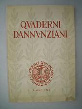 QUADERNI DANNUNZIANI, Fascicolo IV-V, Il Vittoriale degli Italiani, 1957