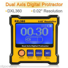 Professional DXL360 Digital Protractor Inclinomet​er Angle finder Level Box
