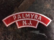 Palmyra New Jersey Red & White Boy Scouts of America BSA Patch