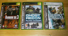Ghost Recon Advanced Warfighter XBOX 360 Ghost Recon Xbox Rainbow Six 3 XBOX