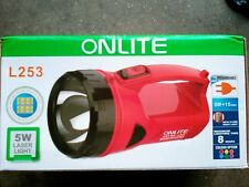 ONLITE RECHARGEABLE 5W TORCH with 15 SMD NIGHT LIGHT 40 mtr Range