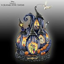 BRADFORD EXCHANGE - The Nightmare Before Christmas Illuminated Musical Pumpkin