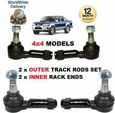 FOR NISSAN NP300 & PICKUP D22 4x4 1998--  2 x OUTER & 2x INNER TRACK TIE ROD END