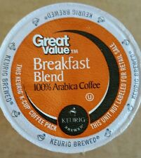 "BREAKFAST BLEND ""GREAT VALUE""  MED RST VERSION 2.0 KEURIG K CUP  400 CT"