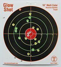 "50 Pack 10"" Reactive Splatter Targets Glowshot Gun Rifle Shooting Glow Shot NEW!"