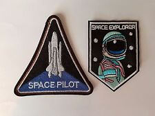 Space explorer astronaut & Space Pilot 2pack Iron On Patch Sew on Transfer Badge