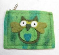 NEW GRINGO FAIR TRADE FELT FUNKY HIPPY BOHO FESTIVAL HIPPIE OWL PURSE FROM NEPAL