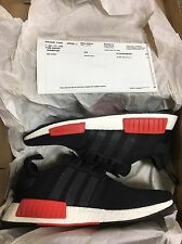 New Men's Adidas NMD R1 Running Shoes, Blk, Size12