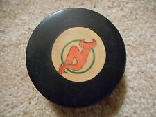 FIRST SEASON NEW JERSEY DEVILS 82-83 VINTAGE OFFICIAL GAME PUCK VICEROY REVERSE