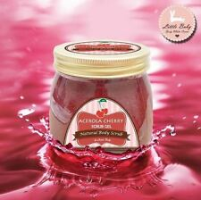 200g Acerola Cherry Scrub Gel Whitening Skin Smooth & Soft Reduces Dark Circles