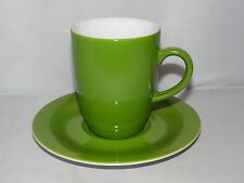 Starbucks Green & White 8oz. Cappuccino MUG / CUP & SAUCER Germany Kahla 192184