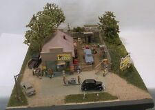 "HO HOn3 CRAFTSMAN CUSTOM BUILT DIORAMA"" HARLLEE & SON CYCLE SHOP"" SUPER DETAILED"