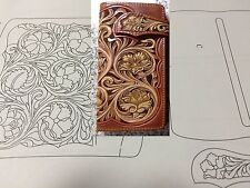 Leather craft Patterns DIY Designs Long Wallet Paper Template Drawing Tools CL30