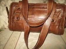 A  French ladies brown leather hand bag  Aridza Bross Pink Opium
