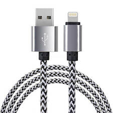 iPad 4, iPhone 6S Plus, 5C Lightning Charger/Laptop Wire Lead Cable Silver/White