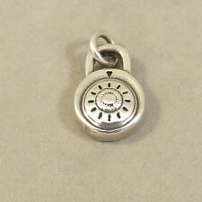 .925 Sterling Silver 3-D PADLOCK Charm NEW Pendant Combination Lock 925 HM42