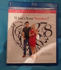 What's Your Number? (Blu-ray& DVD-2 Disc, 2012, No Digital Copy)