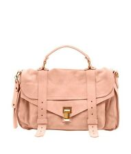 Proenza Schouler PS1 Pink Suede Shoulder Bag