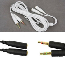 2M/6FT 3.5mm Steel Series Siberia V2 Headset Neckband Extension Cable 3 Colors