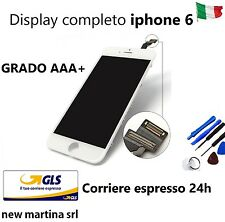 LCD + TOUCH + FRAME Apple Iphone 6 bianco High quality DISPLAY AAA+ consegna 24h