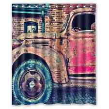Special Design The Old Truck Car Waterproof Fabric Shower Curtain 60 x 72
