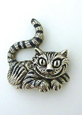 Cheshire Cat Pendant Necklace Charm Sterling 925 Alice in Wonderland Kitty