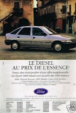 Publicité advertising 1992 Ford Escort 1800 Diesel